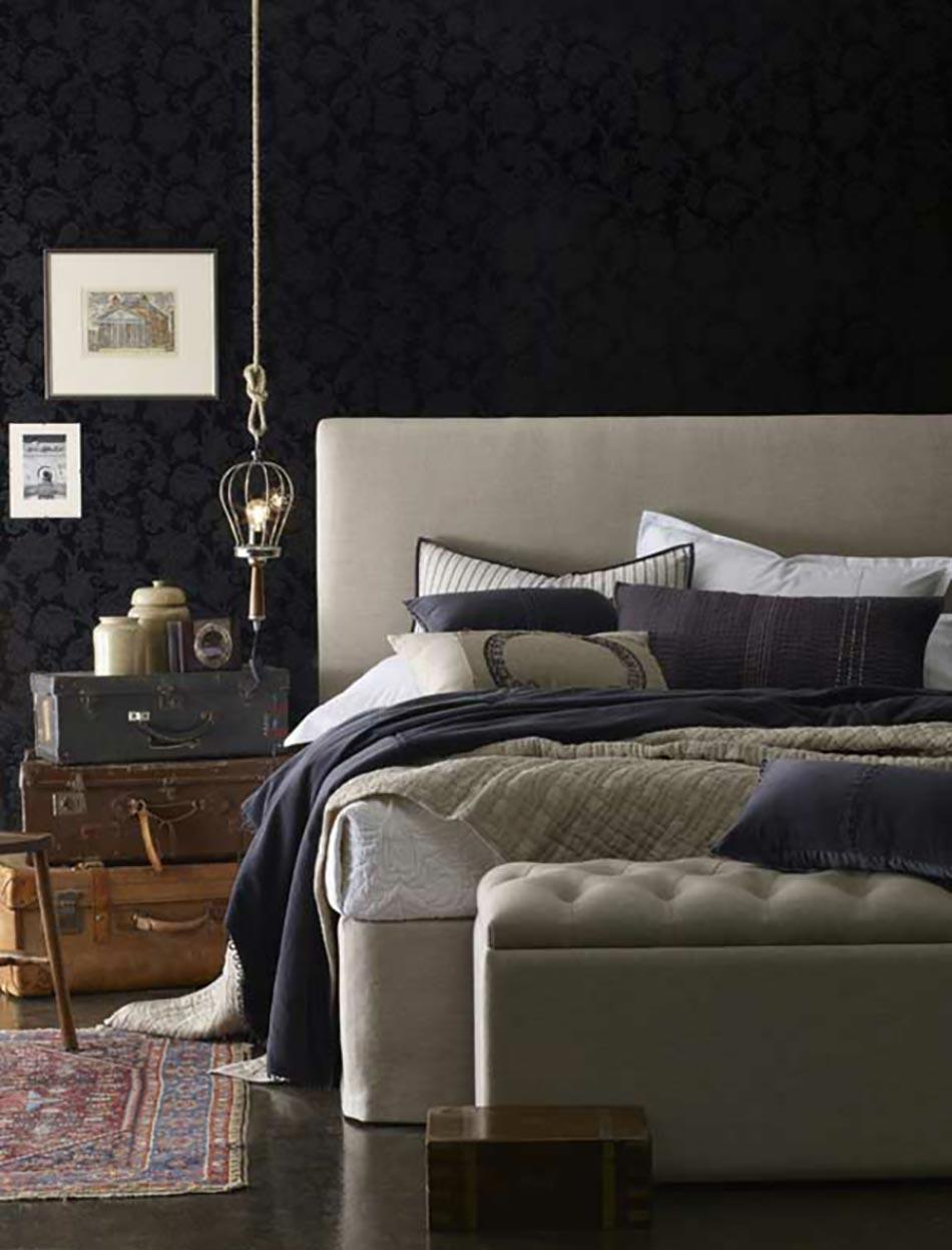 16 sources d inspiration design pour votre chambre coucher for Chambre a coucher marron et vert