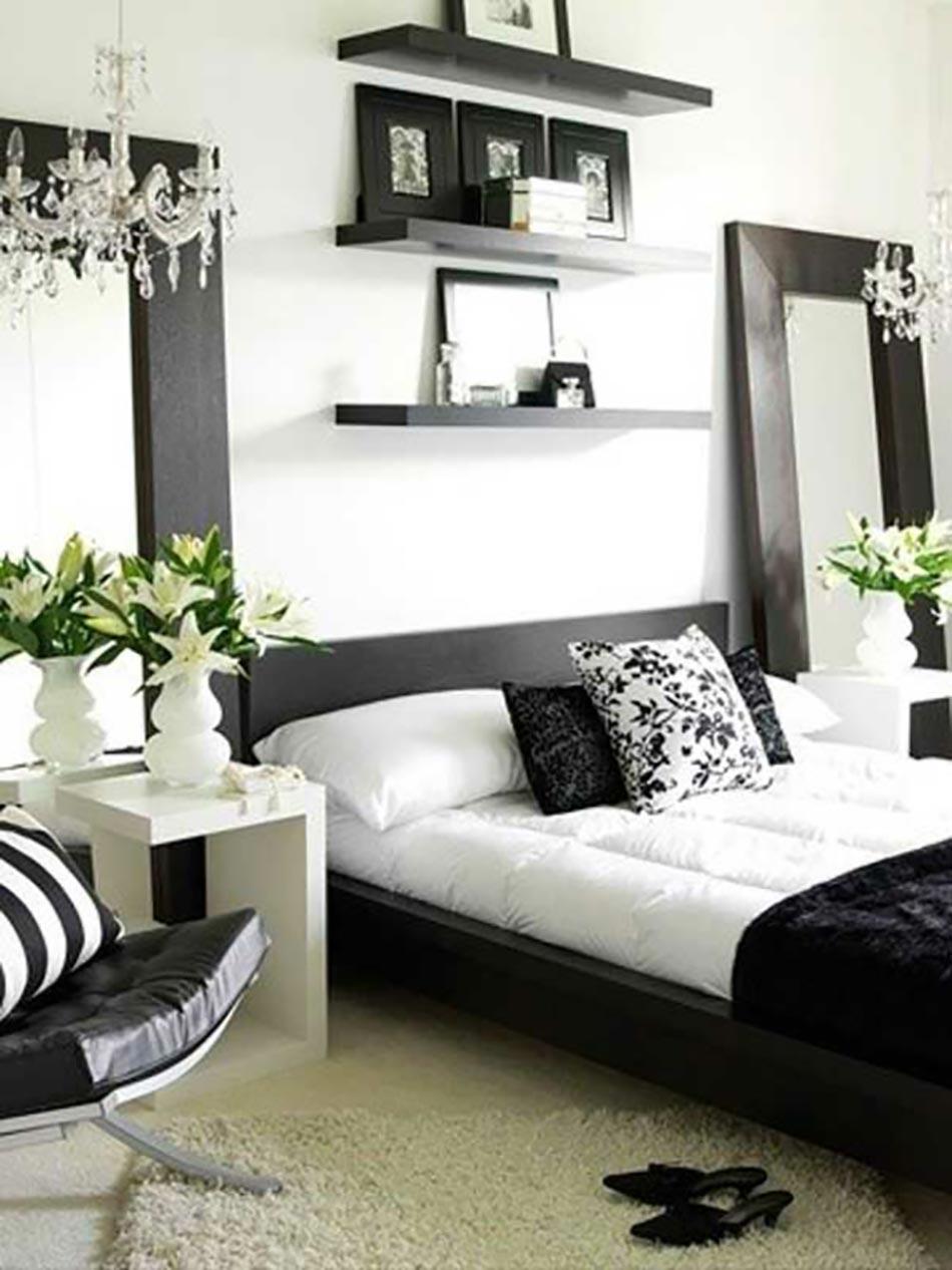 16 sources d inspiration design pour votre chambre coucher - Chambre a coucher en noir et blanc ...