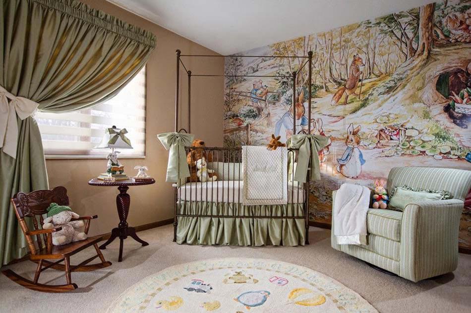 D co chambre b b le voilage et le ciel de lit magiques design feria - Decoration chambre bebe moderne ...