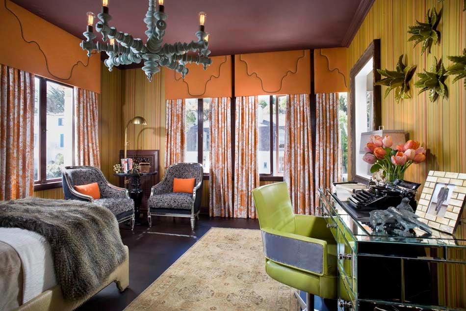 Chambre d co clectique au caract re bien tremp design - Deco chambre nature zen ...