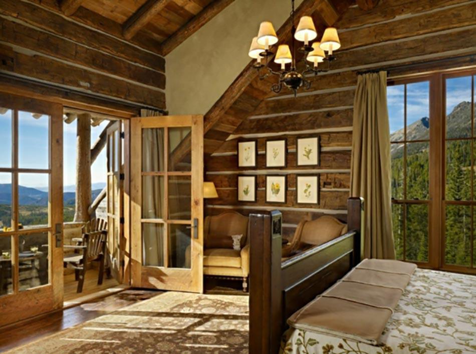 Magnifiques chambres avec une belle vue couper le souffle design feria for Chambre style chalet montagne