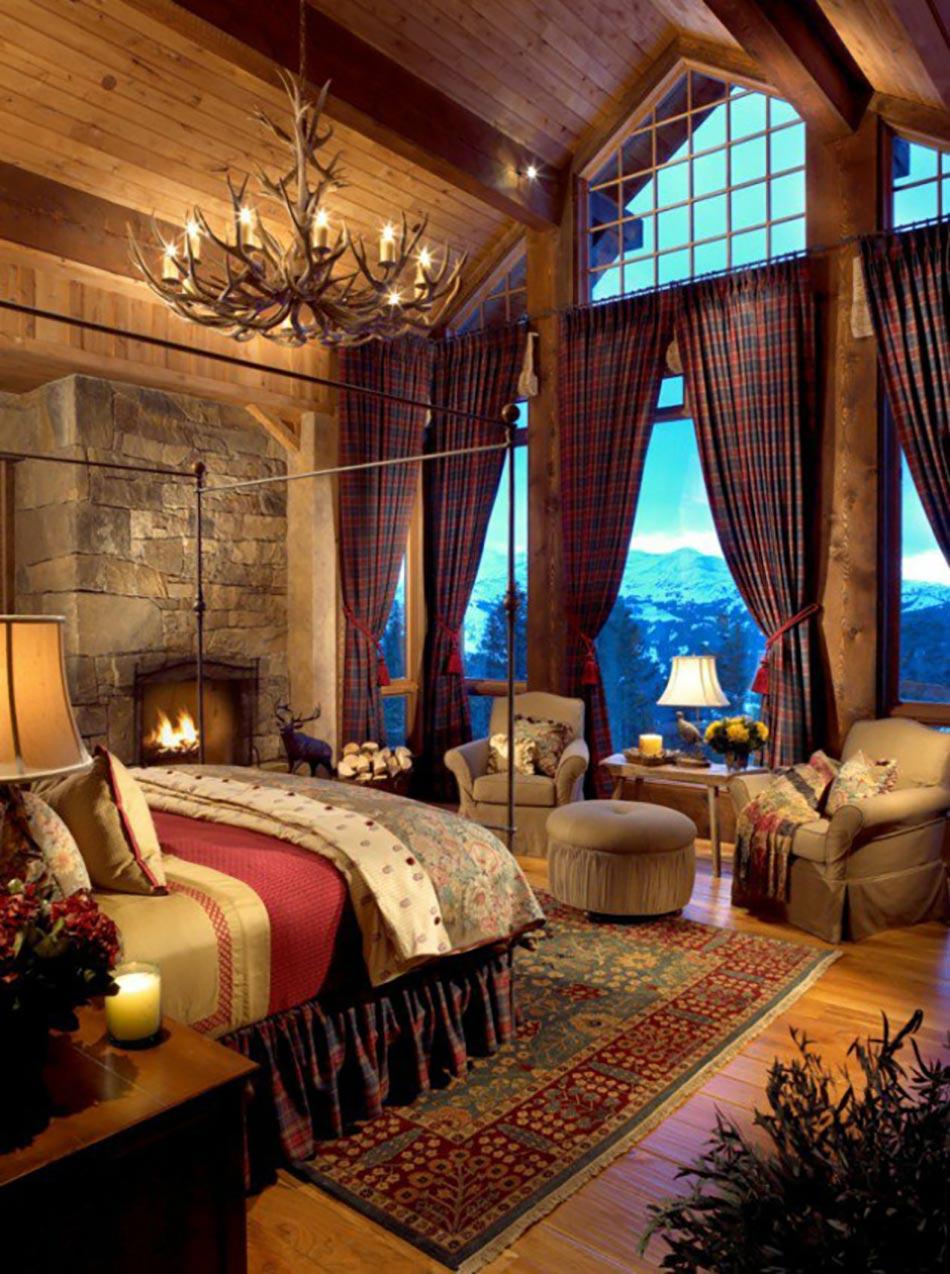L esprit montagne refl t dans une chambre rustique for Chambre de charme clef
