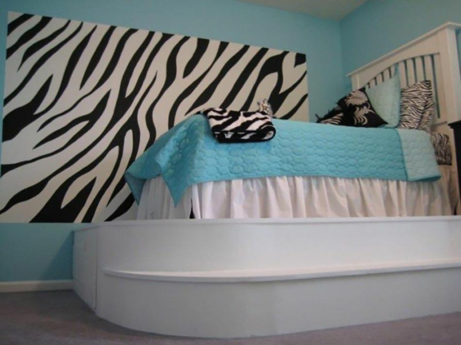deco chambre zebre. Black Bedroom Furniture Sets. Home Design Ideas