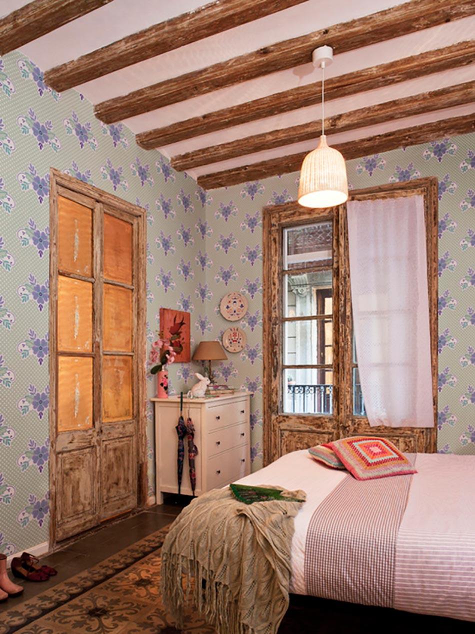 Papier peint design artistique aux nuances nostalgiques du for Chambre retro design