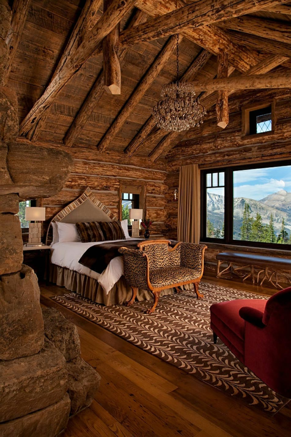 Magnifiques chambres avec une belle vue couper le for Chambre rustique