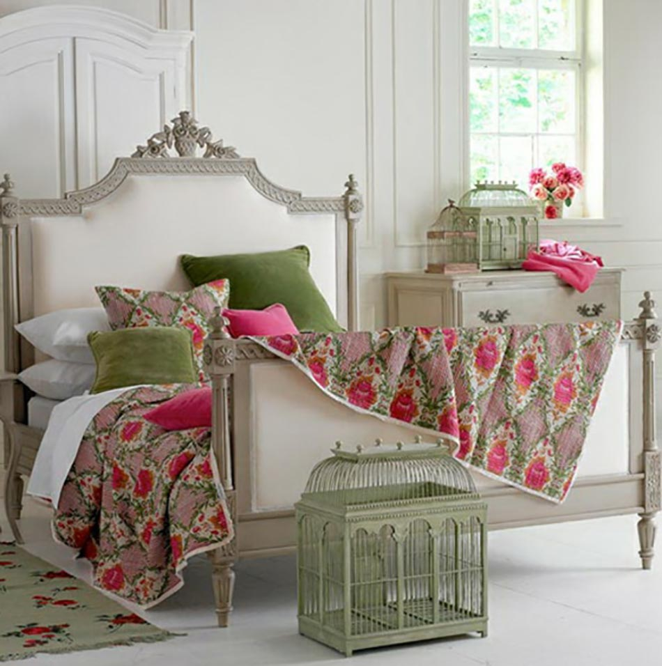 Best chambre vintage romantique contemporary design for Maison romantique
