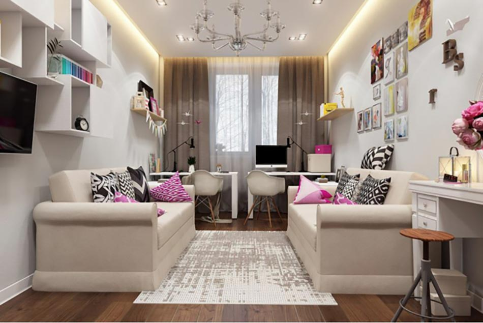Idee amenagement appartement meilleures images d for Amenagement chambre 2 enfants