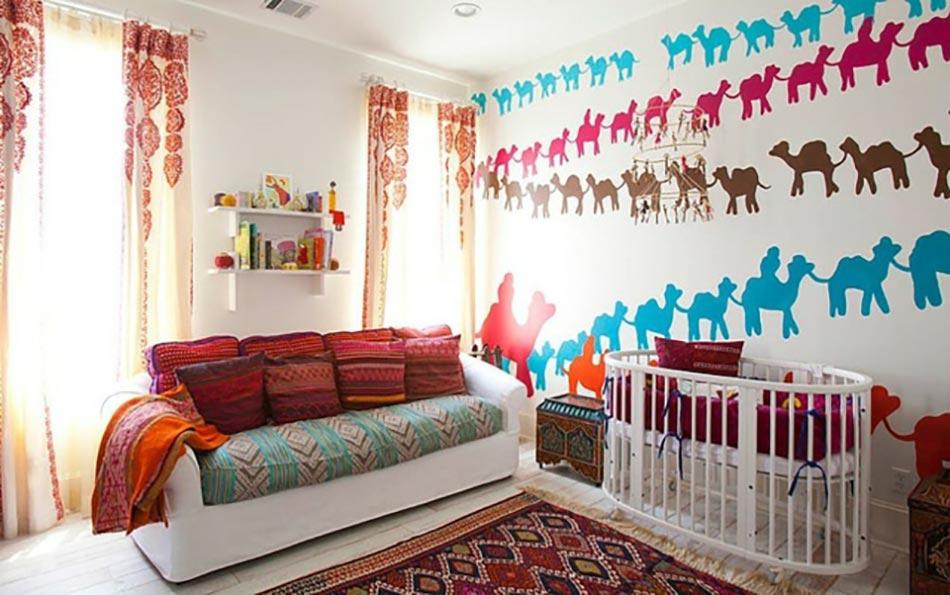Inspiration chambre enfant orientale for Decoration chambre orientale