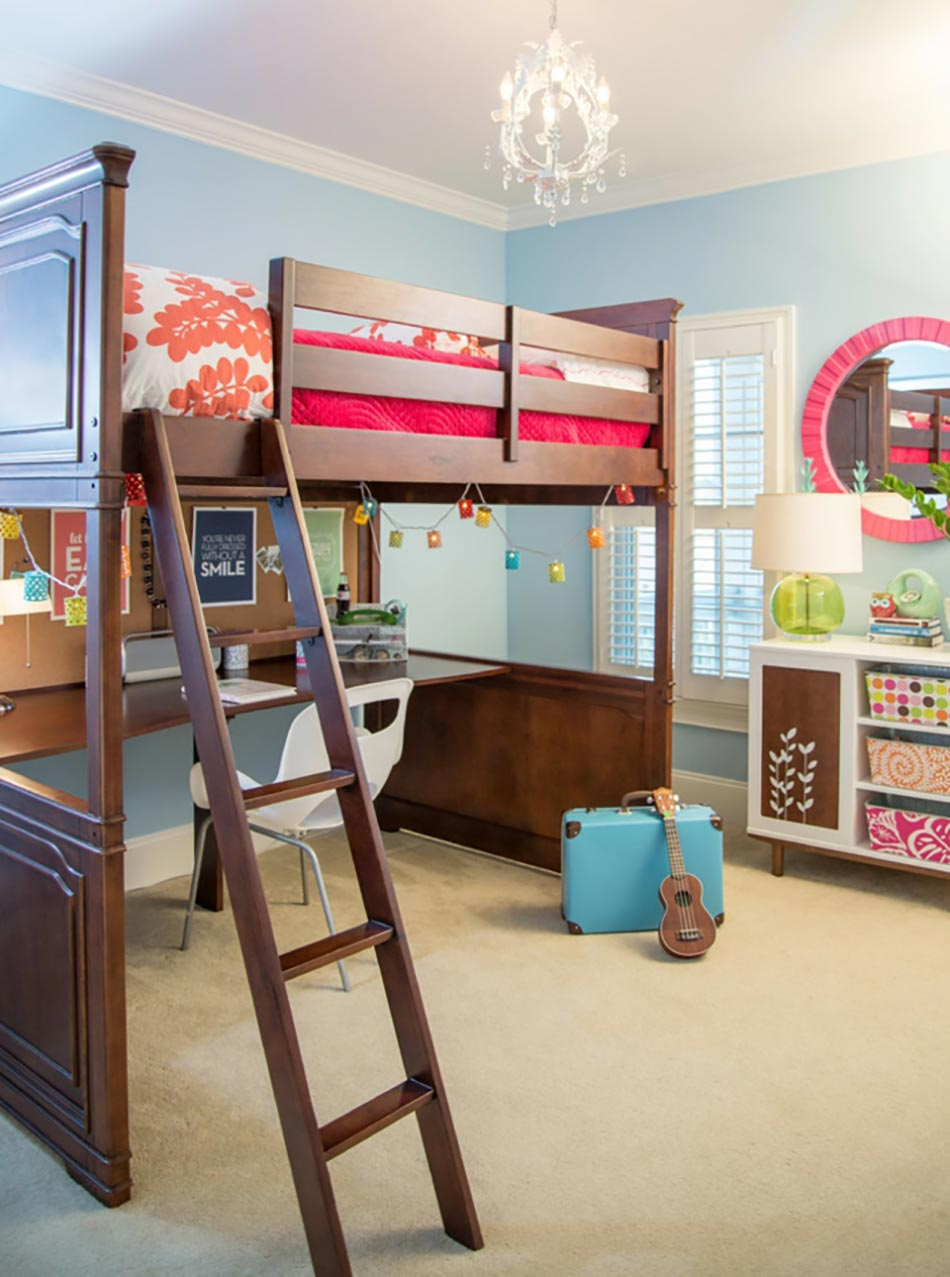 Lit mezzanine pour une chambre d ado originale design feria for Petit lit mezzanine