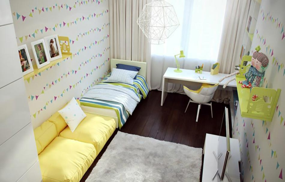 am nagement chambre d enfant dans un appartement design. Black Bedroom Furniture Sets. Home Design Ideas