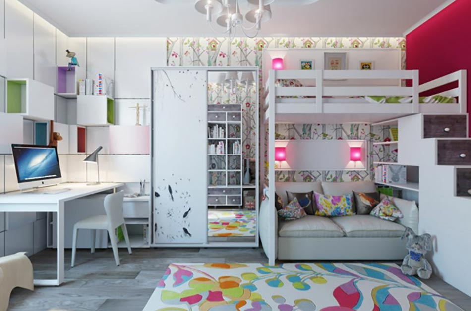 am nagement chambre d enfant dans un appartement design feria. Black Bedroom Furniture Sets. Home Design Ideas