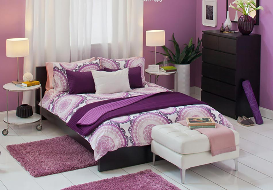 PHOTO DECO CHAMBRE MAUVE GRISE, Galerie Creation