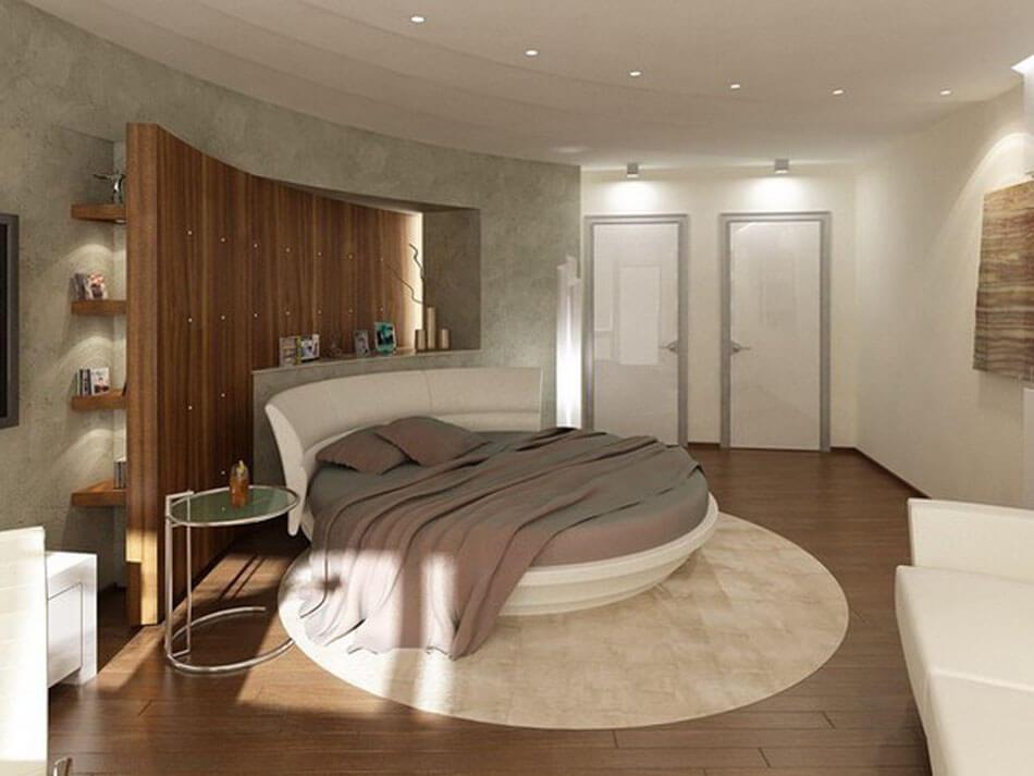 le lit rond pour meubler la chambre coucher d une mani re originale et cr ative design feria. Black Bedroom Furniture Sets. Home Design Ideas