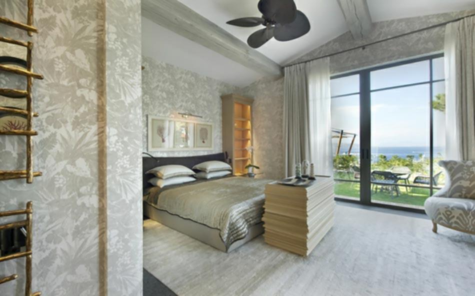 Décoration sur les murs pour une chambre très design