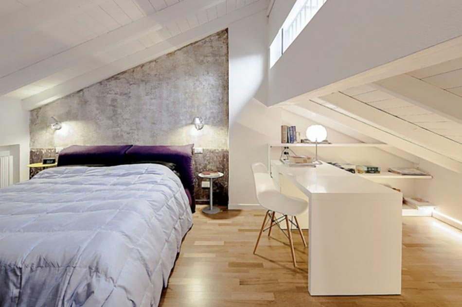 Petite Chambre à Coucher à La Décoration Et Design Modernes