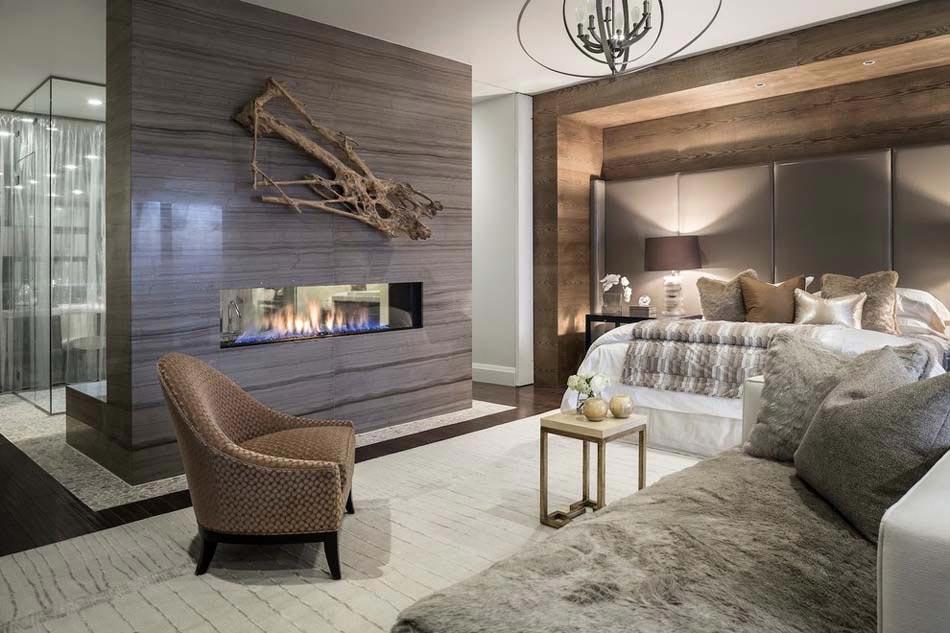 15 exemples d une belle chambre avec chemin e aux for Chambre contemporaine design