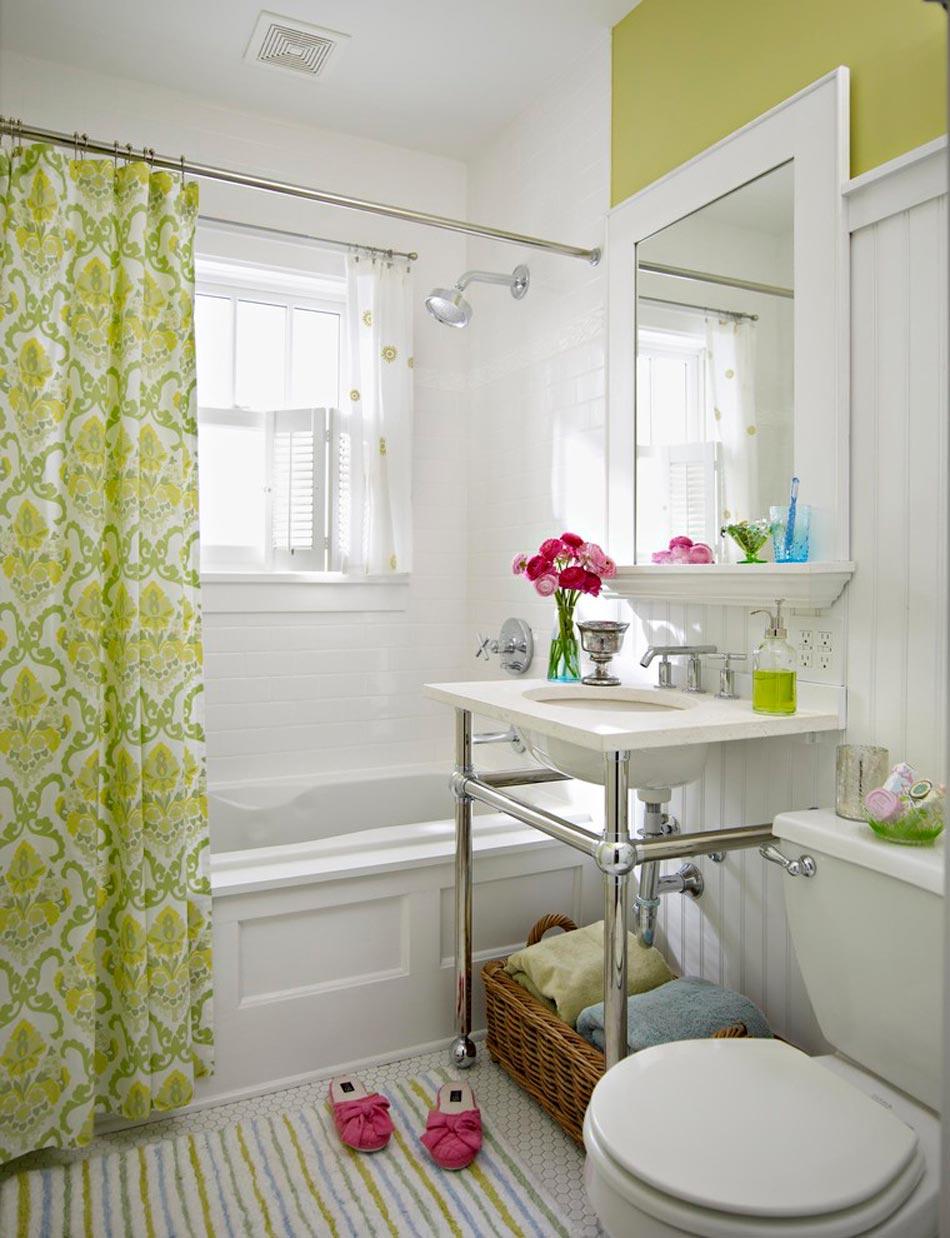 D co d int rieur ou lorsque le citron vert s invite la for Colonne salle de bain vert pomme