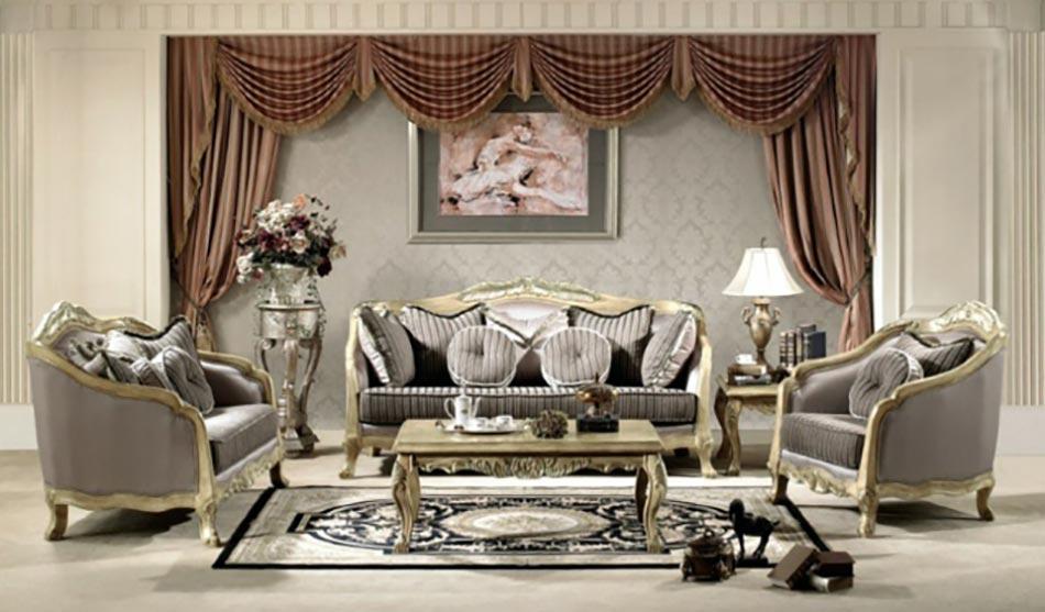 séjour aux formes classiques meubles d'antan