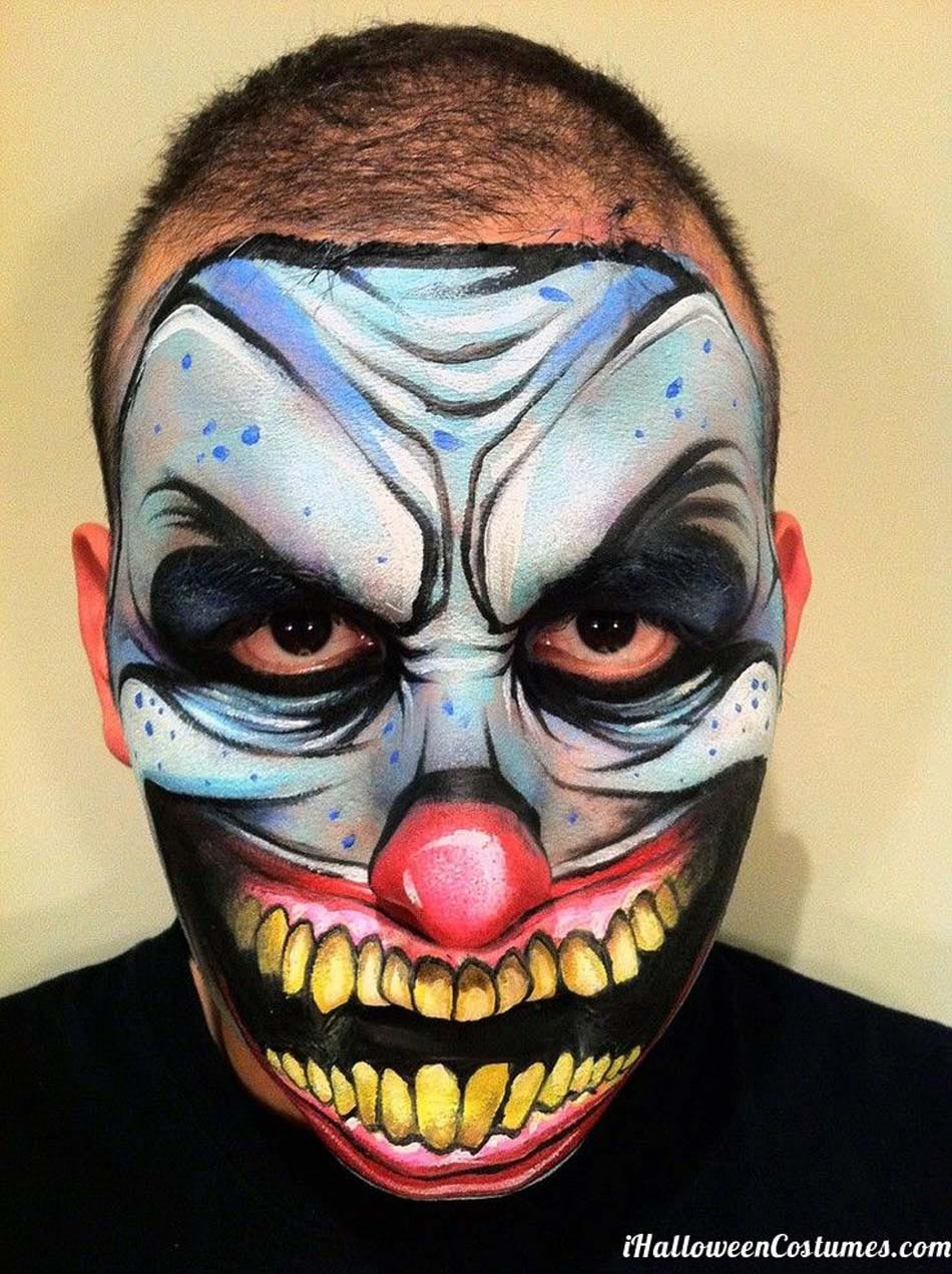 Maquillage halloween homme clown tueur - Maquillage carnaval homme ...