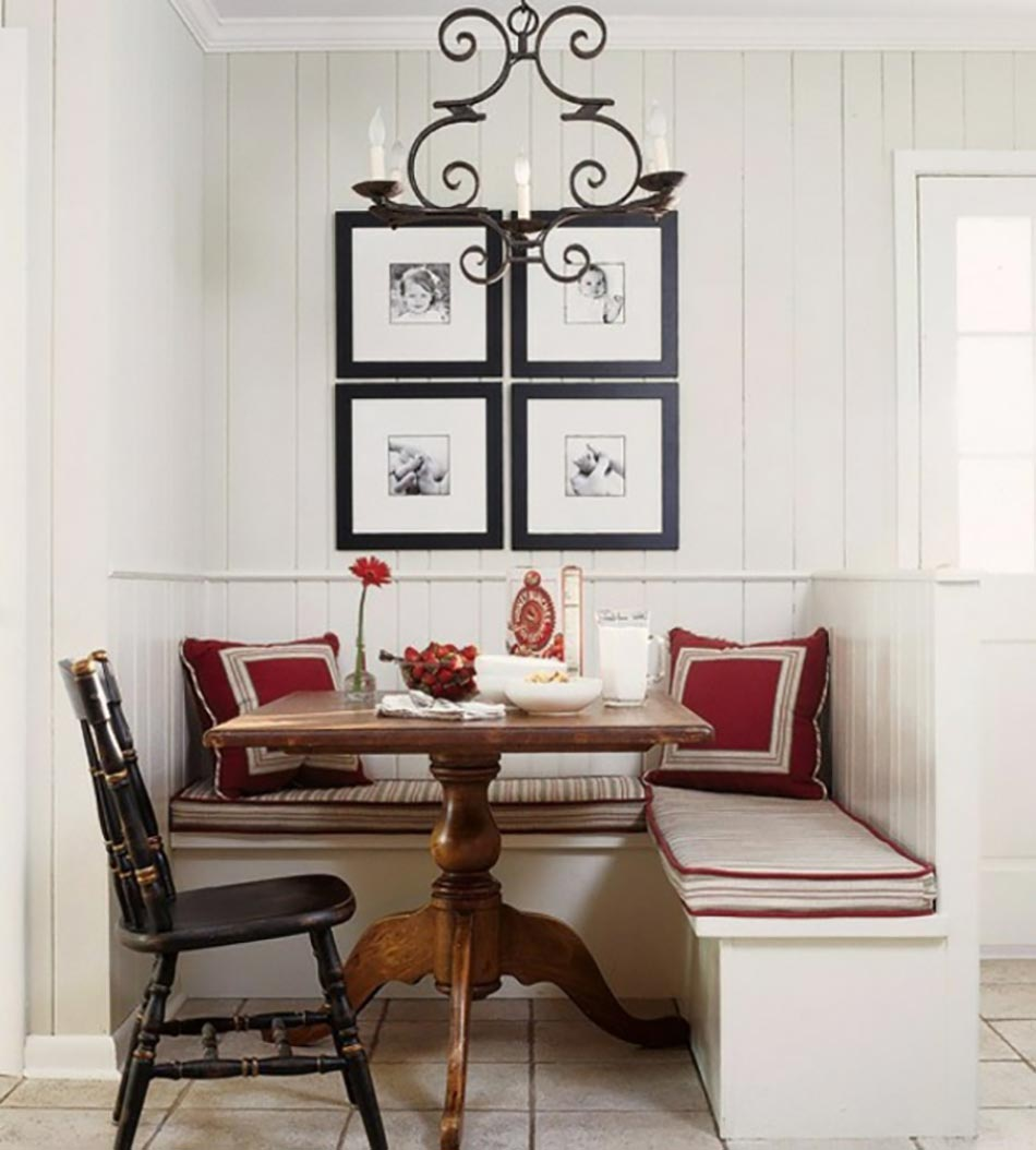 Coin repas convivial gr ce une banquette d angle design for Small dining area ideas
