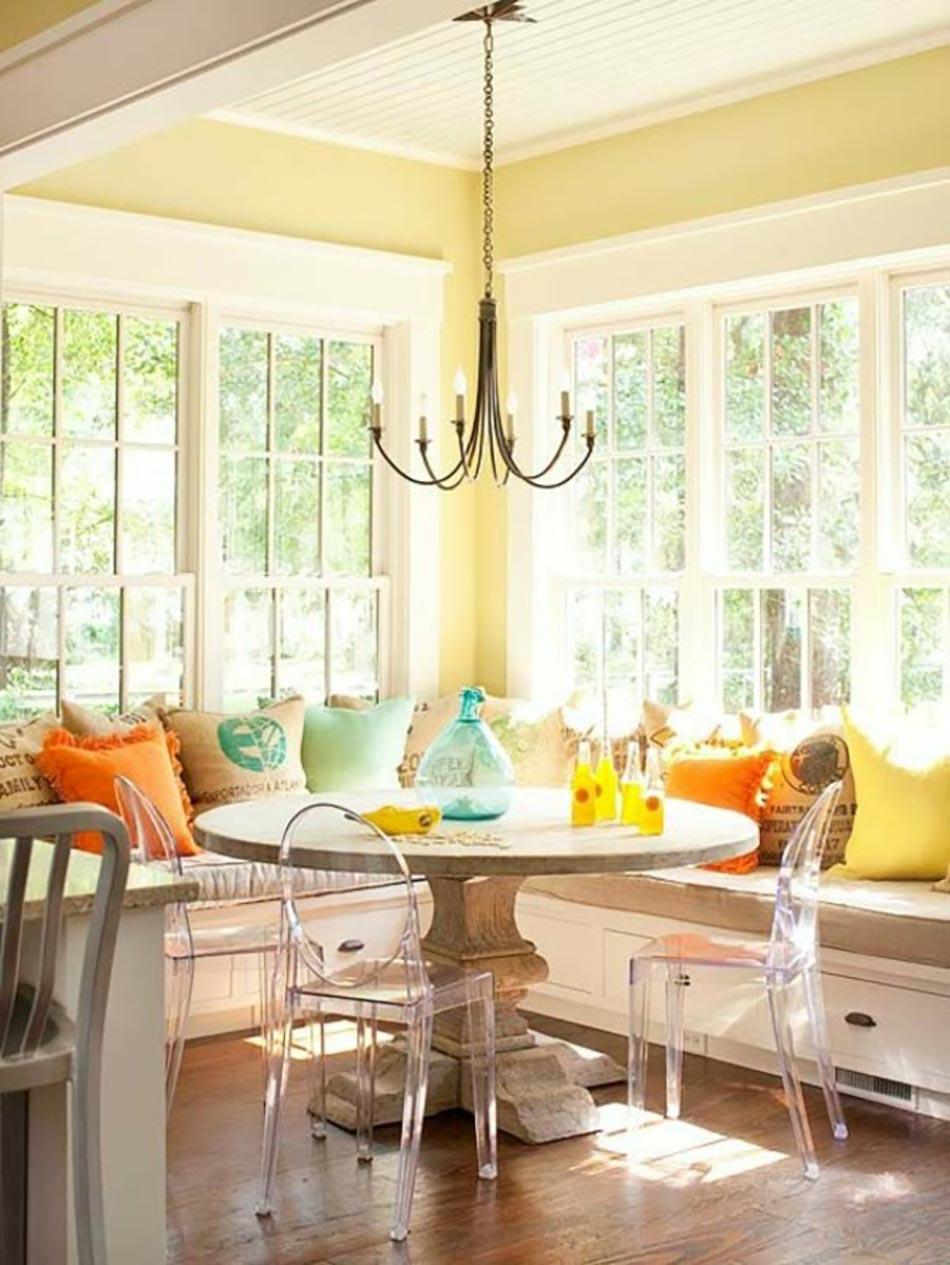 coin repas convivial grâce à une banquette d'angle design | design feria