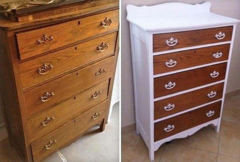 Meuble restaur de fa on simple et cr ative retrouvant une - Changer couleur meuble bois ...