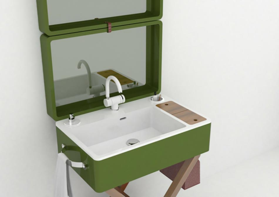 Superieur Le Lavabo Salle De Bain Portable En Vert