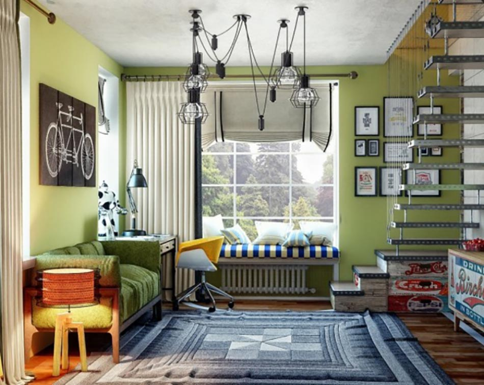 chambre ado au design d co sympa et original design feria. Black Bedroom Furniture Sets. Home Design Ideas