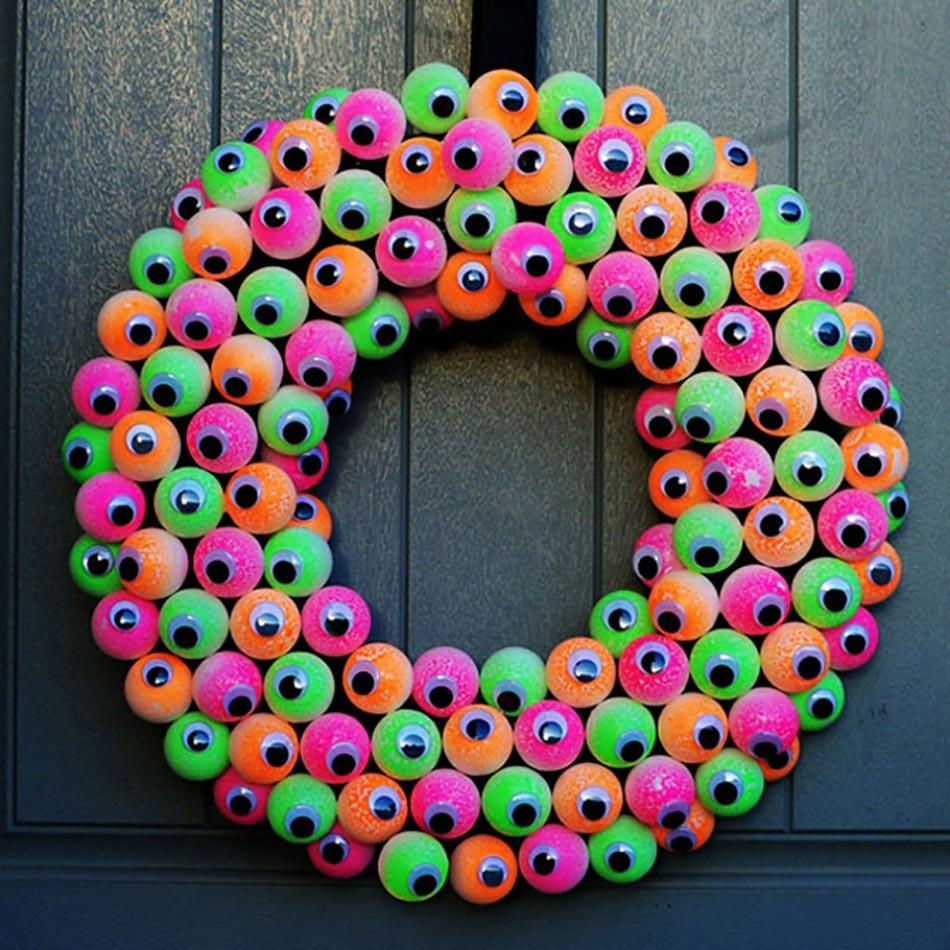 12 Couronnes En Décoration De Porte Spécial Halloween Design Feria