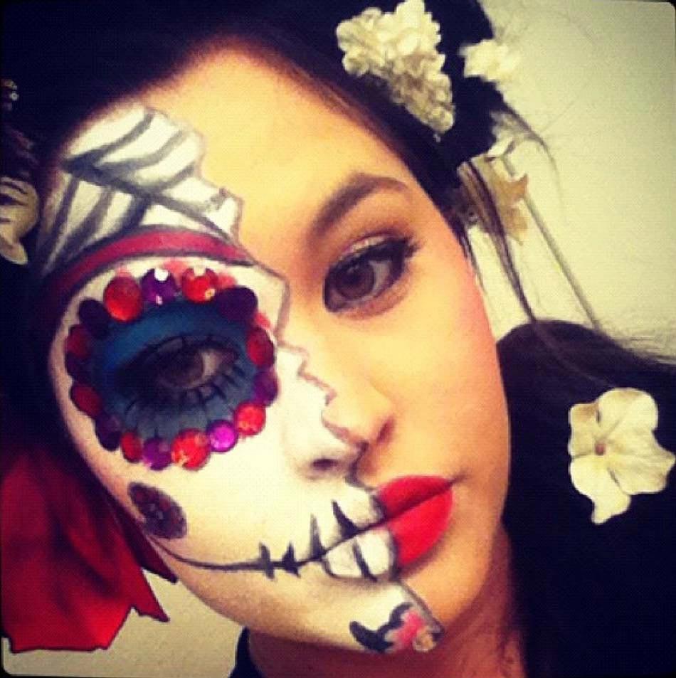 15 id es de maquillage halloween myst re horreur ou gore design feria - Maquillage halloween moitie visage ...