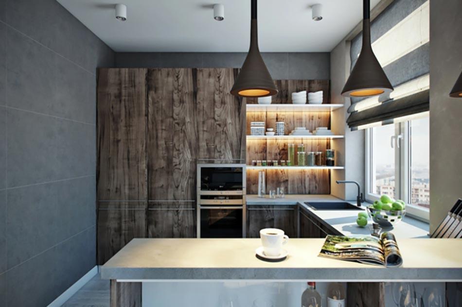Cuisine americaine design en bois for Cuisine americaine design en bois