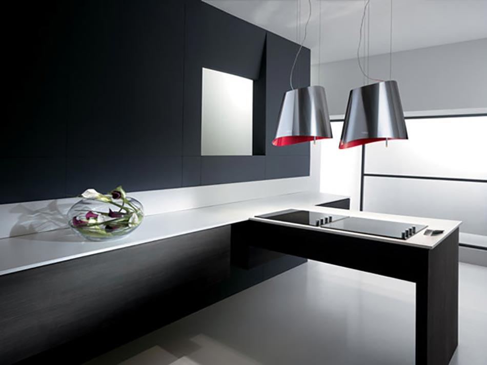 etonnante hotte de cuisine au design unique signé elica   design feria - Modele De Cuisine Design Italien