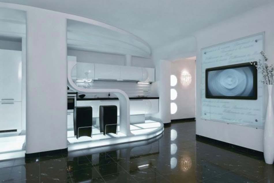 Une cuisine design futuriste vue par les yeux des for Cuisine futuriste