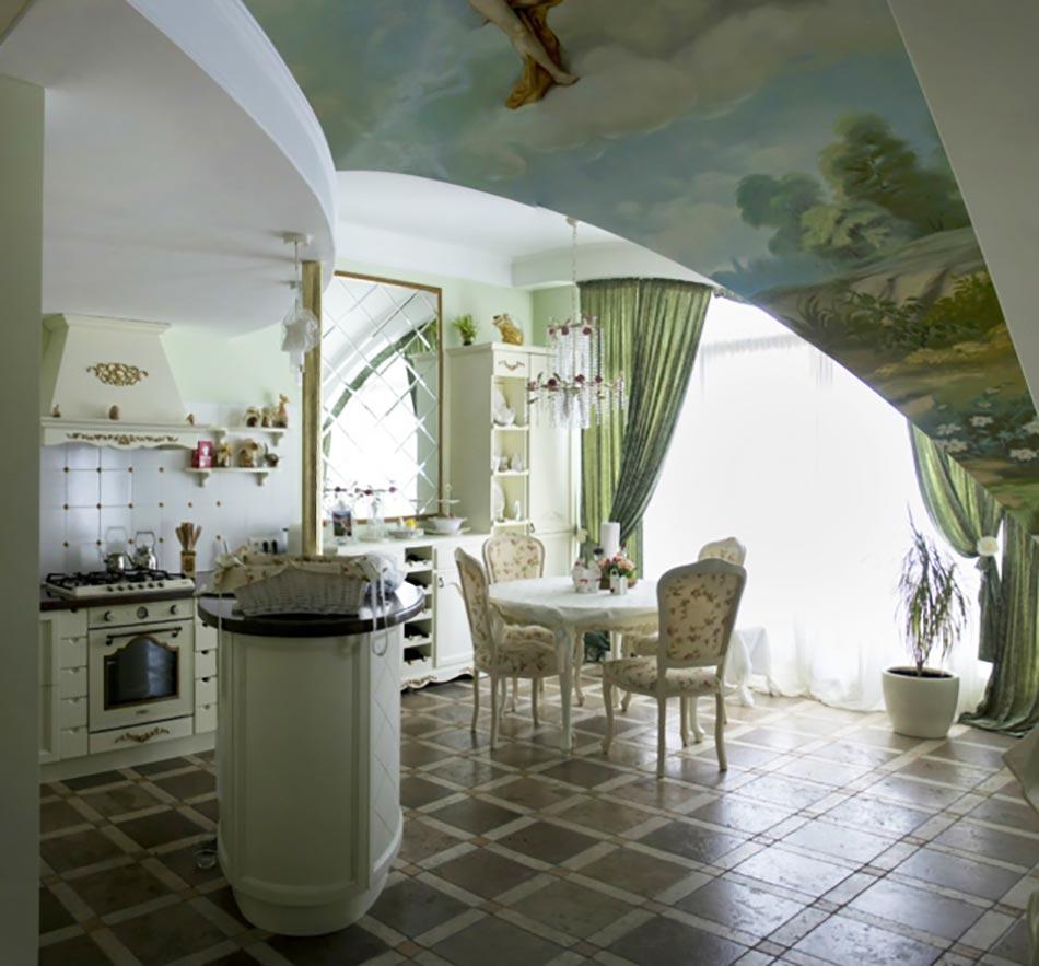 Cuisine moderne à l\'ameublement baroque remis au goût du ...