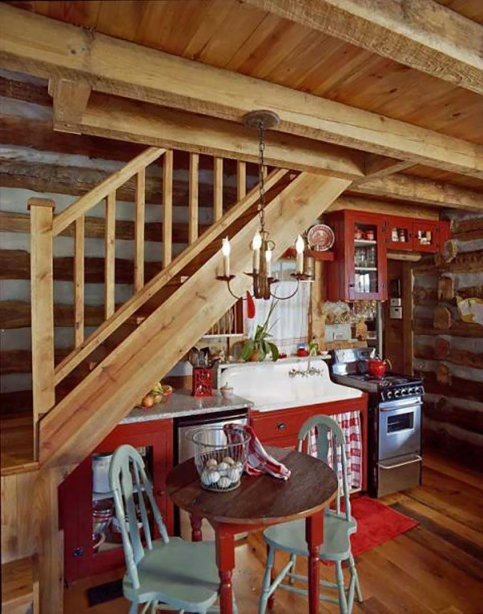 cuisine design sous l escalier voir design feria. Black Bedroom Furniture Sets. Home Design Ideas