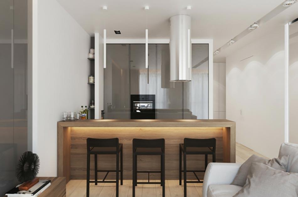 12 concepts de cuisine moderne vus par des designers russes design feria - Decoration studio moderne ...