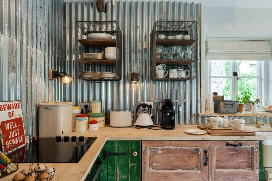Un dosseret de cuisine tendance et moderne en m tal for Cuisine ouverte industrielle