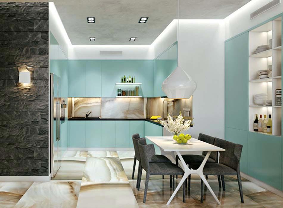 Salle manger design dans un petit appartement de ville moderne design feria - Salle a manger cuisine ...
