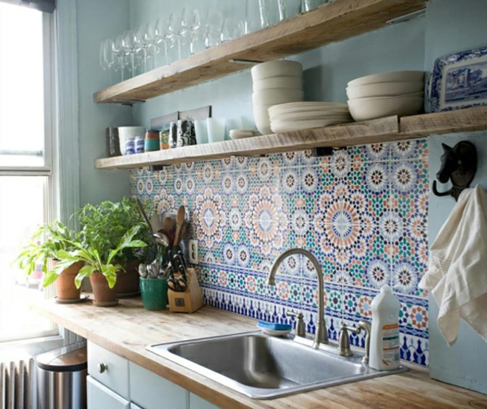 Muurtegels Keuken Verven : Cement Tile Kitchen Backsplash