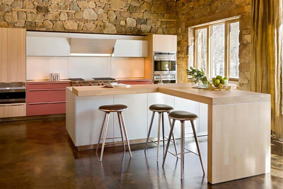 Cuisine minimaliste au design contemporain en blanc for Arrangement petite cuisine