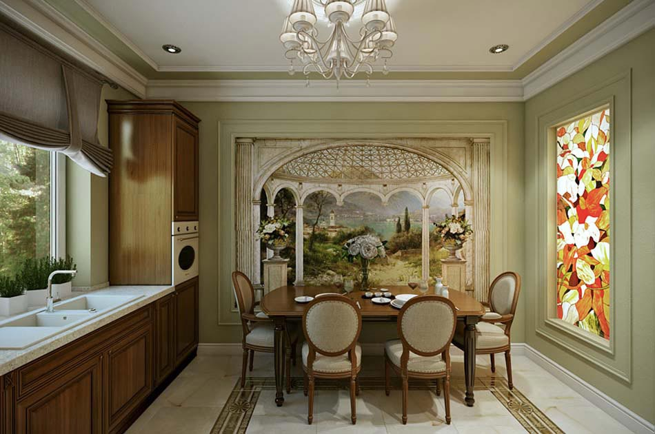 Salle manger design dans un petit appartement de ville for Table de salle a manger style baroque
