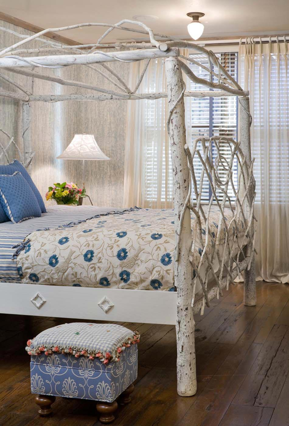 chambre design influence rustique originale