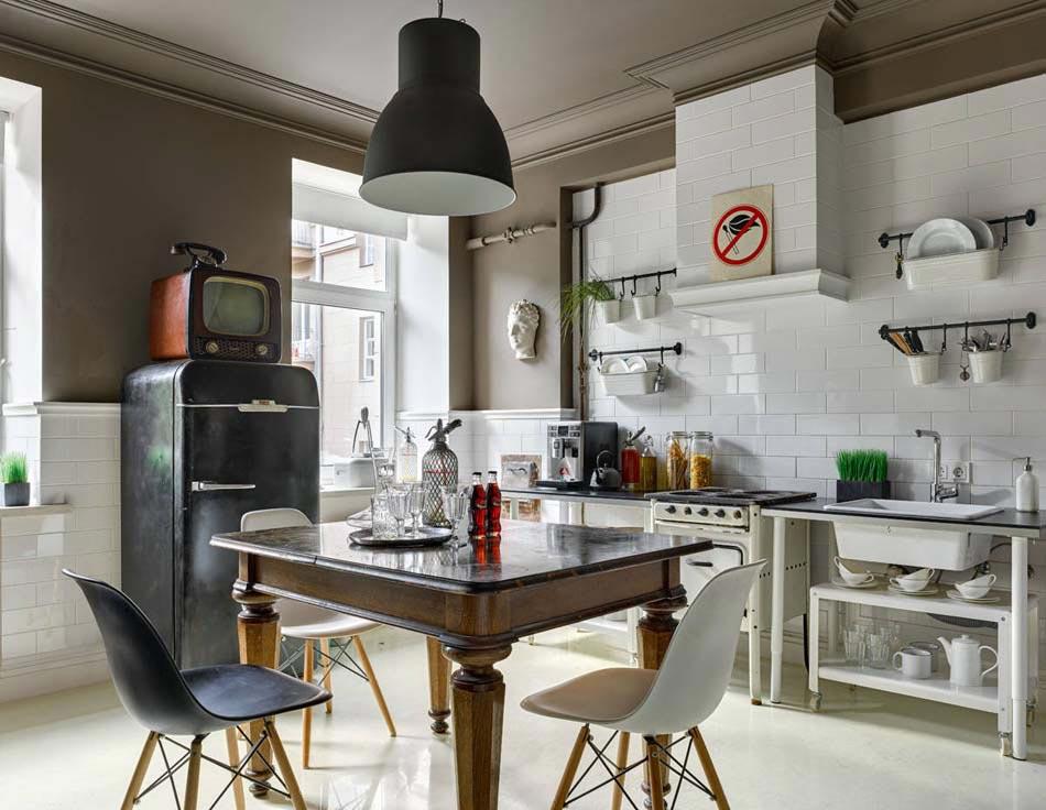 inspir par le design des annes 50 lamnagement de cette cuisine dborde doriginalit - Cuisine Retro Annee 50