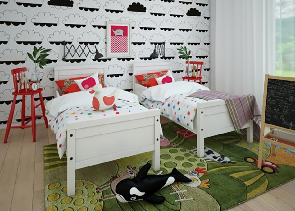 dco chambre denfant pleine de couleurs - Chambre Jumeaux Deco