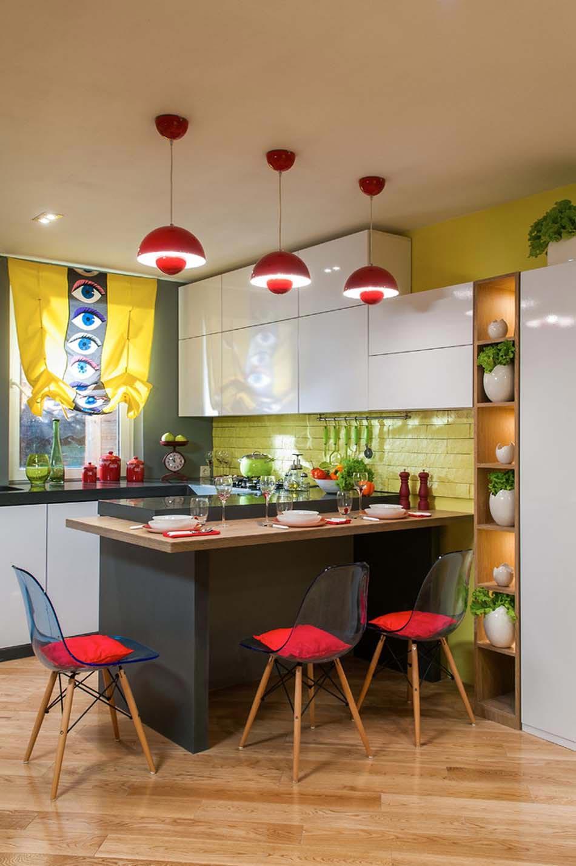 petite cuisine cr ative aux influences modernes. Black Bedroom Furniture Sets. Home Design Ideas