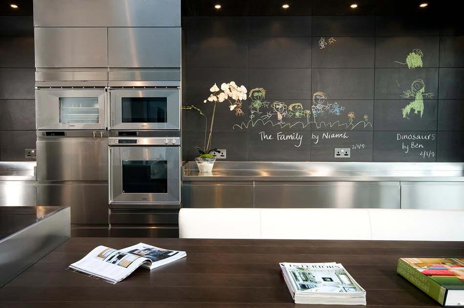 Le tableau noir une id e de d co cuisine cr ative et for Peinture tableau craie