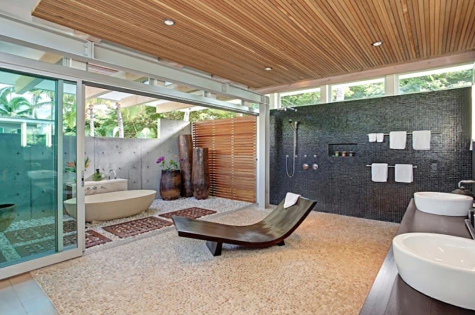 Une d co zen pour une salle de bains minimaliste design - Decoration salle de bain zen ...