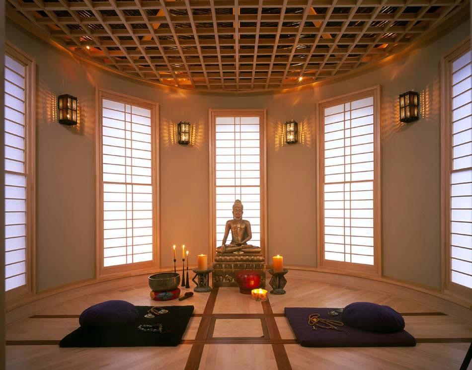 des espaces au zen design sp cialement cr s pour la m ditation et le yoga design feria. Black Bedroom Furniture Sets. Home Design Ideas