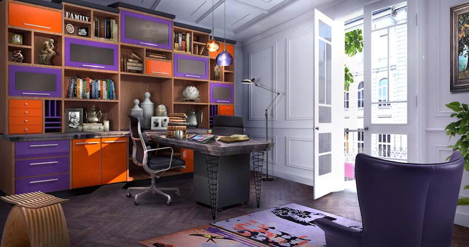 couleur pour un bureau la maison id e. Black Bedroom Furniture Sets. Home Design Ideas