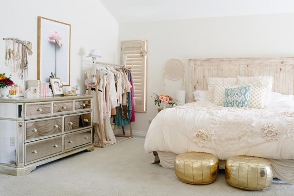 la touche f minine pour une chambre d co unique design feria. Black Bedroom Furniture Sets. Home Design Ideas